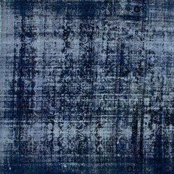 Decolorized dark blue | Rugs / Designer rugs | GOLRAN 1898