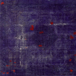 Decolorized Mohair dark purple | Rugs / Designer rugs | GOLRAN 1898