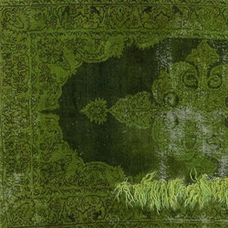 Decolorized Mohair green | Rugs / Designer rugs | GOLRAN 1898