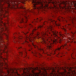 Decolorized Mohair red | Rugs / Designer rugs | GOLRAN 1898