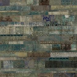 Patchwork Restyled aqua | Tappeti / Tappeti d'autore | GOLRAN 1898