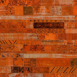 Patchwork Restyled orange | Rugs / Designer rugs | GOLRAN 1898