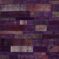 Patchwork Restyled purple | Rugs / Designer rugs | GOLRAN 1898