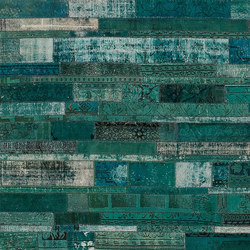 Patchwork Restyled turquoise | Rugs / Designer rugs | GOLRAN 1898