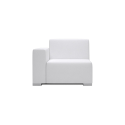 Block 80 1 Seat 1 arm | Modular seating elements | Design2Chill