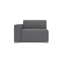 Block 90 1,5 Seat 1 arm | Modular seating elements | Design2Chill