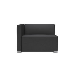 Square 1,5 Seater with 1 arm | Modular seating elements | Design2Chill