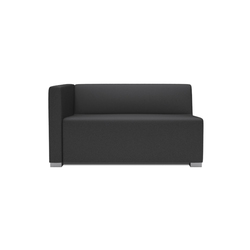 Square 2 Seater with 1 arm | Modular seating elements | Design2Chill