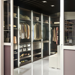 Legno interior closet storage system | Room dividers | raumplus