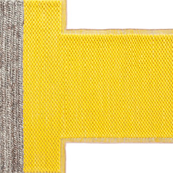 Mangas Space Rug Plait Yellow 1 | Rugs / Designer rugs | GAN
