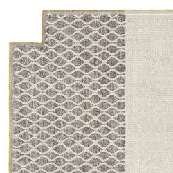 Mangas Space Rug Rhombus Square Ivory 10 | Formatteppiche | GAN