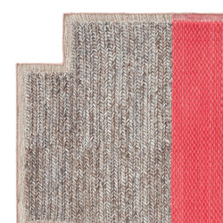 Mangas Space Rug Plait Square Coral 6 | Tapis / Tapis design | GAN