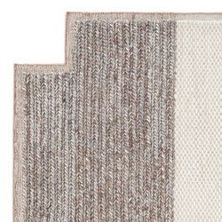 Mangas Space Rug Plait Square Ivory 8 | Tapis / Tapis design | GAN