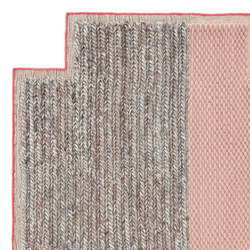 Mangas Space Rug Plait Square Pink 7 | Tapis / Tapis design | GAN