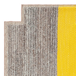 Mangas Space Rug Plait Square Yellow 5 | Formatteppiche | GAN
