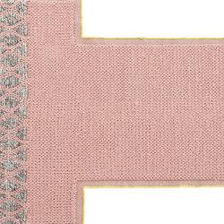 Mangas Space Rug Rhombus Pink 3 | Formatteppiche / Designerteppiche | GAN