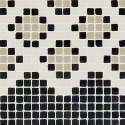 Vetro Pattern 03B Finale Dark | Glass mosaics | Casamood by Florim