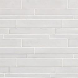 Vetro Neutra Bianco Listello Sfalsato | Glass mosaics | FLORIM