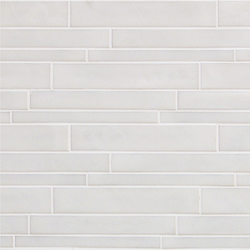 Vetro Neutra Bianco Listello Sfalsato | Mosaici in vetro | Casamood by Florim