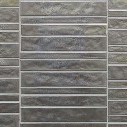 Vetro Neutra Cemento Listello Dritto | Glass mosaics | Casamood by Florim