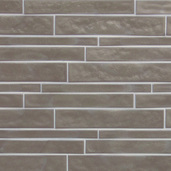 Vetro Neutra Cemento Listello Sfalsato | Mosaïques verre | FLORIM