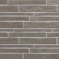 Vetro Neutra Cemento Listello Sfalsato | Glass mosaics | FLORIM