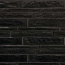 Vetro Neutra Carbone Listello Sfalsato | Glass mosaics | FLORIM