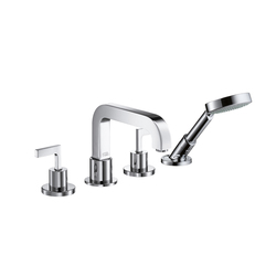 AXOR Citterio 4-Hole Tile Mounted Bath Mixer with lever handles DN15 | Bath taps | AXOR