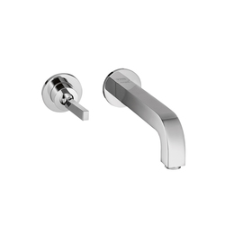 AXOR Citterio Single Lever Basin Mixer for concealed installation with escutcheons and spout 225mm wall mounting DN15 | Wash basin taps | AXOR