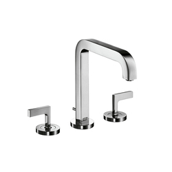 AXOR Citterio 3-Hole Basin Mixer with lever handles and spout 205mm DN15 | Wash basin taps | AXOR