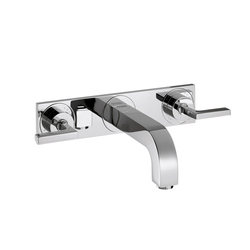 AXOR Citterio 3-Hole Basin Mixer for concealed installation with lever handles escutcheons and spout 226mm DN15 wall mounting | Wash-basin taps | AXOR
