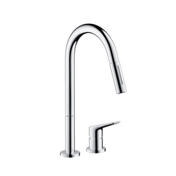 AXOR Citterio M 2-Hole Kitchen Mixer with pull-out spray DN15 | Robinetterie de cuisine | AXOR