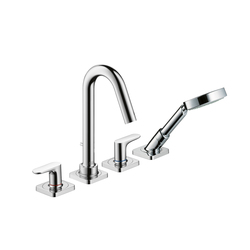 AXOR Citterio M 4-Hole Rim-Mounted Bath Mixer DN15 | Bath taps | AXOR