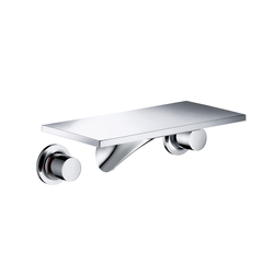 AXOR Massaud 3-Hole Basin Mixer for concealed installation wall mounting with spout 170 mm DN15 | Wash basin taps | AXOR
