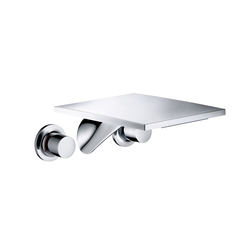 AXOR Massaud 3-Hole Basin Mixer for concealed installation wall mounting with spout 262 mm DN15 | Wash-basin taps | AXOR