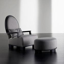 Gabo Bergère mit Hocker | Loungesessel | Meridiani