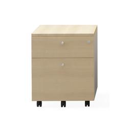 Cube H56.7 Movable Pedestal | Carritos auxiliares | Nurus