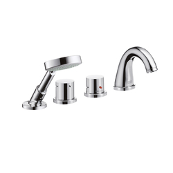 AXOR Starck 4-Hole Thermostatic Rim-Mounted Bath Mixer DN15 | Bath taps | AXOR