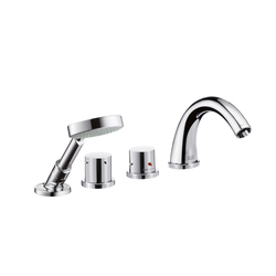 AXOR Starck 4-Hole Thermostatic Tile Mounted Bath Mixer DN15 | Bath taps | AXOR