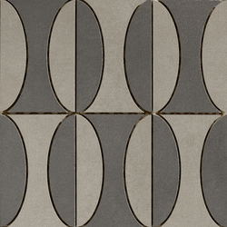 Industrial Decoro B - Plomb|Steel | Ceramic mosaics | Floor Gres by Florim