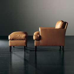 Gaben Armchair with Ottoman | Lounge chairs | Meridiani