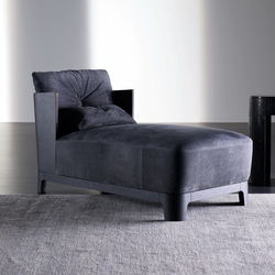 Keeton Chaise longue WOOD | Chaise longue | Meridiani