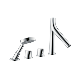 AXOR Starck Organic 4-Hole Rim-Mounted Thermostatic Bath Mixer DN15 | Bath taps | AXOR