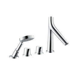 AXOR Starck Organic 4-Hole Tile-Mounted Thermostatic Bath Mixer DN15 | Bath taps | AXOR