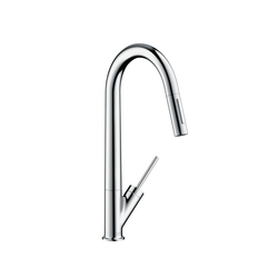 AXOR Starck Single Lever Kitchen Mixer with pull-out spray DN15 | Kitchen taps | AXOR