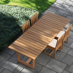 Square Table de repas | Tables à manger de jardin | Meridiani