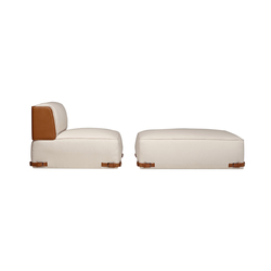 Soho Element & Pouf | Lounge chairs | Fendi Casa