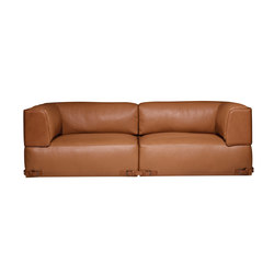 Soho Leather 2 Seater Sofa | Armchairs | Fendi Casa