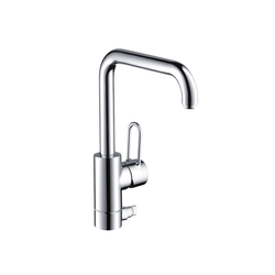 AXOR Uno Single Lever Kitchen Mixer with integrated shut-off valve DN15 | Kitchen taps | AXOR