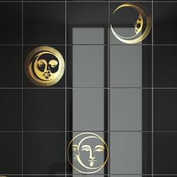 Soli e lune Oro | Ceramic tiles | Ceramica Bardelli